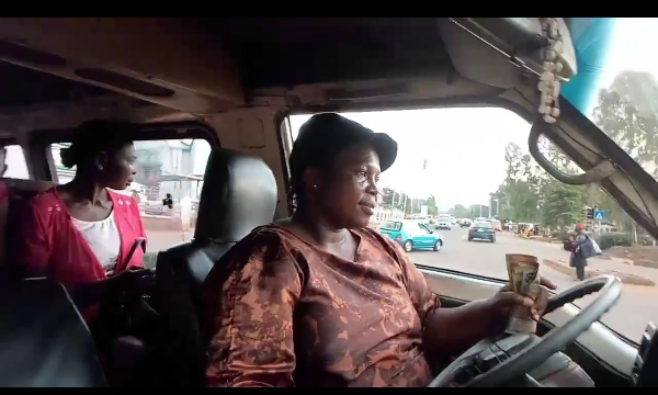 Brave Woman Making A Living From Bus Driving In Enugu