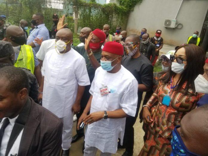 Senator Orji Kalu Arrives Abia Months After Release From Prison