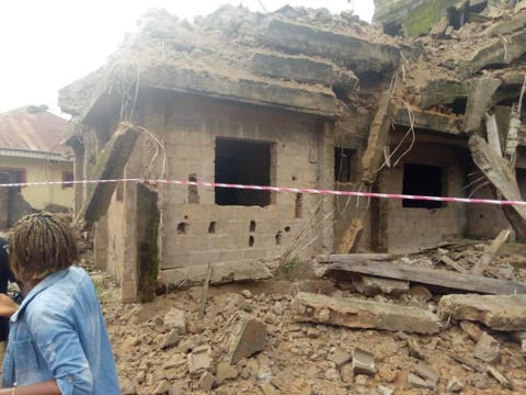 Three Storey Building Collapses In Ebonyi State