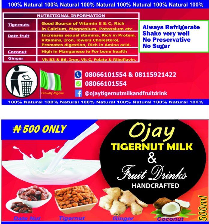 Ojay Tigernut Milk And Fruit Drinks Opens Up Distribution