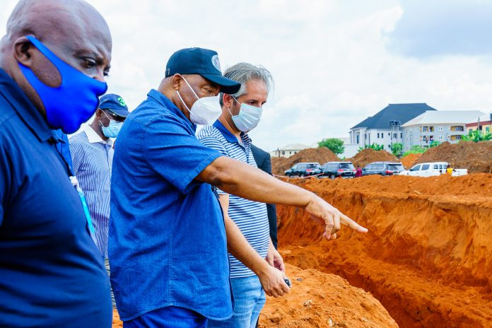 Governor Uzodinma Directly, Inspects Road Project