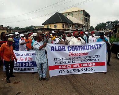 Ngige, Imo REC lead protest against Anambra monarch