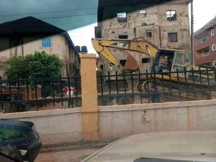 Revenge - Enugu Govt Demolishes House Of Man Who Scattered Airport Fence