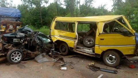 10 injured as five vehicles crash in Anambra (1)