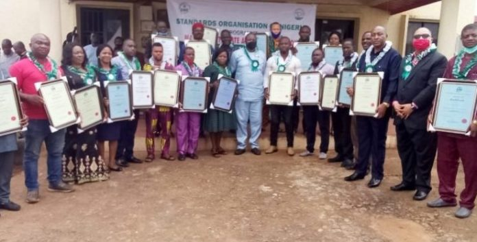 26 Firms Get SON MANCAP Certificates In Anambra