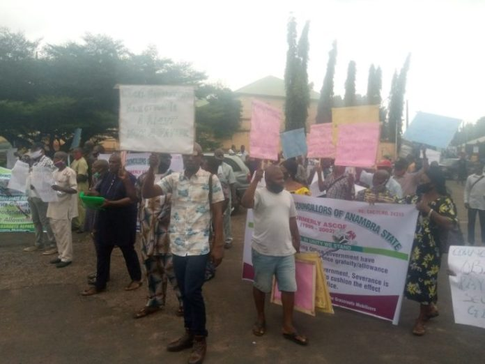 Anambra Protesters Ground Awka, Demand LG Election