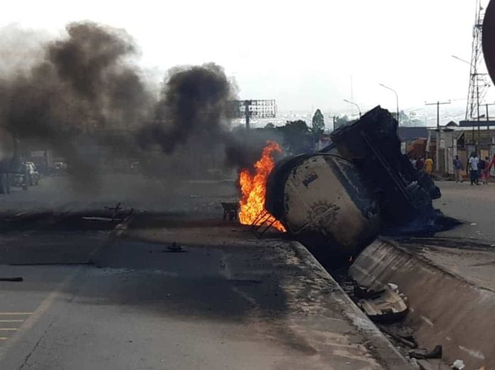 Fire explosion averted as diesel tanker spills content in Anambra (1)