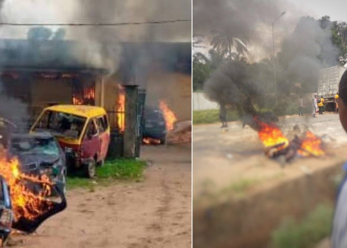 End SARS - 21 Police Stations Attacked, 7 Burnt