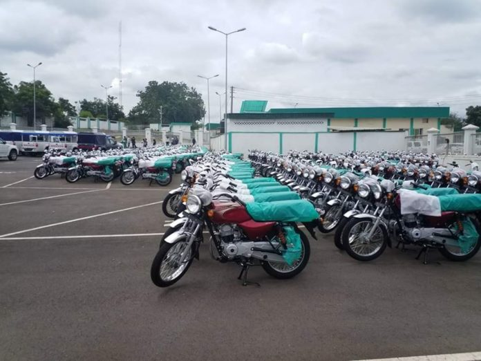 Enugu Gov's Aide Gives New Motorcycles To Unemployed Youths