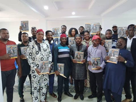 Godwin Maduka Foundation Receives Souvenirs From Attention Magazine