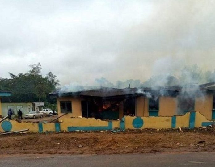Protesters Burn Down Police Station In Imo State