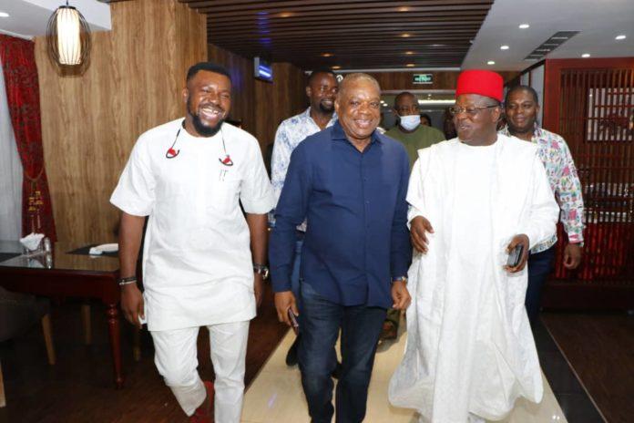 Umahi Meets Orji Uzor Kalu, Hosts Him To Dinner In Abuja