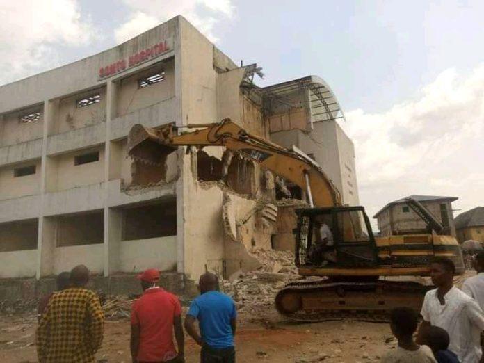 Rochas' Somto Hospital In Owerri Demolished By Gov Uzodinma