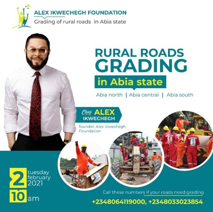 Philanthropist, Hon Alex Ikwechegh To Grade Roads In Abia