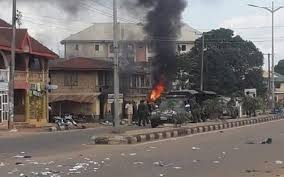 IPOB Attacks Police Station In Ebonyi, Buildings, Vehicles Destroyed