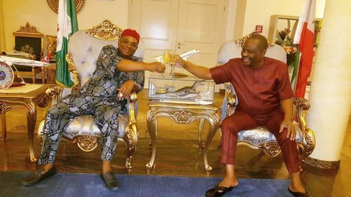 Sen. Kalu Holds Closed Door Meeting With Wike In Govt. House