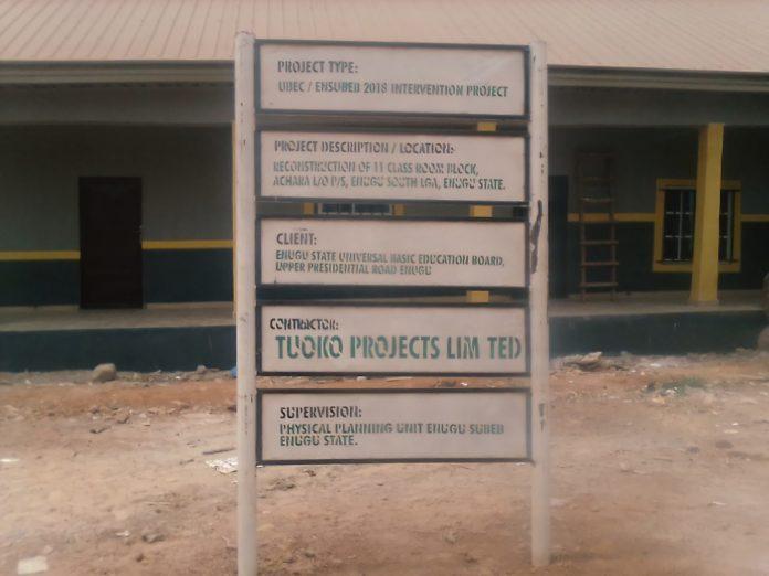 Ugwuanyi Renconstructs 11 Classroom Blocks At Achara Layout
