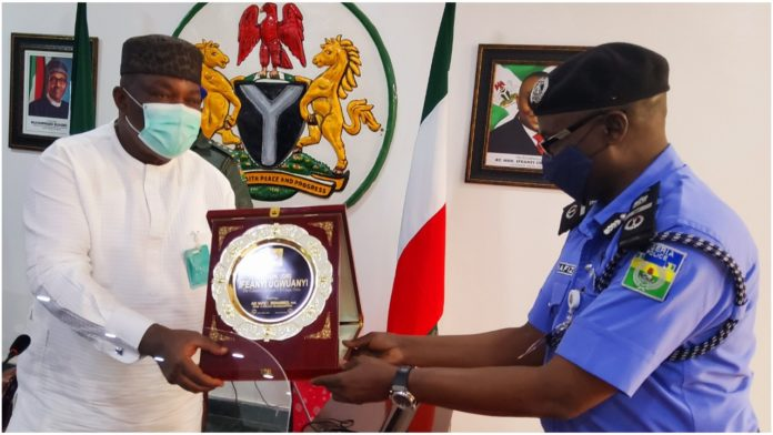 Ugwuanyi Welcomes New Police AIG, Promises To support Him