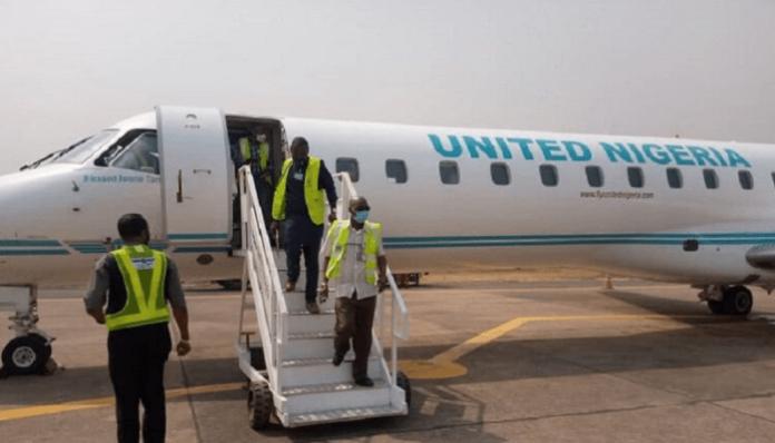 United Nigeria Airlines Inaugural Flight Lands In Enugu