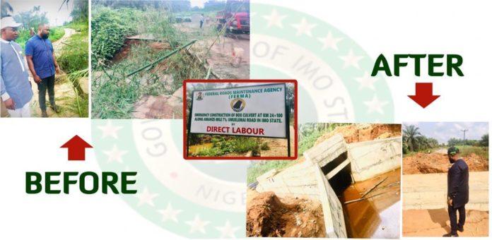 Uzodimma's Aide Says Ezeala Akpaka Bridge Is Fixed For Good