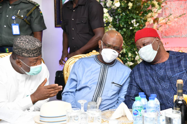 Wike, Obi, Others Attend PDP's SE Meeting In Enugu