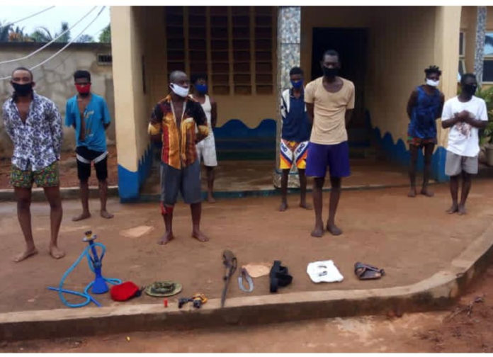 8 Suspected Cultists In Arrested In Okija, ArmsRecovered