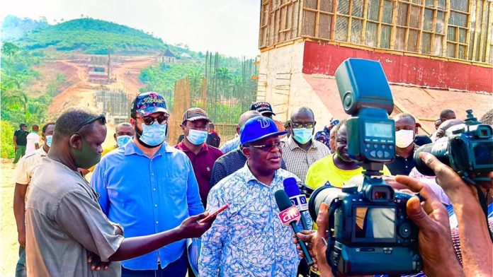 Gov. Umahi Inspects Iyere Flyover, Promises Speedy Completion