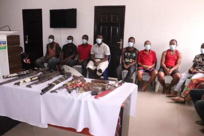 Police Arrest 16 Suspected IPOB Members With Guns, Bombs