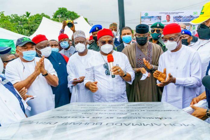 Uzodimma Names Federal Secretariat Road After Buhari