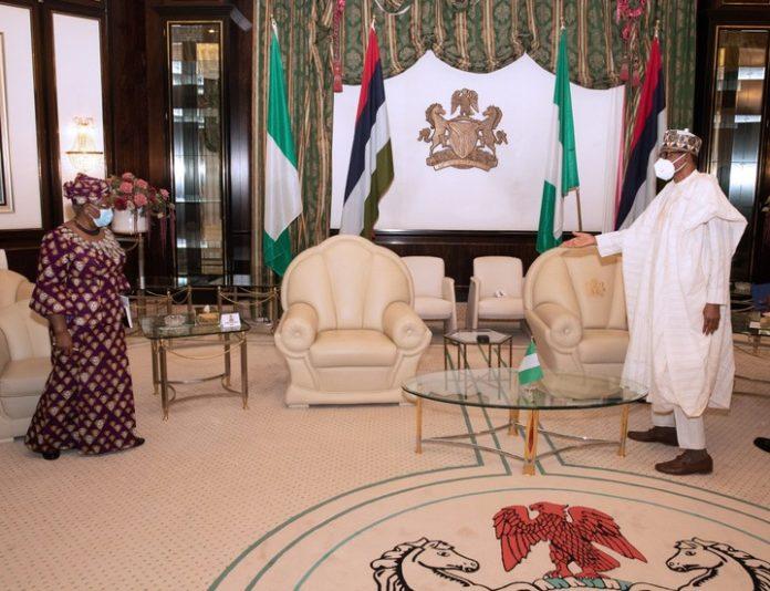 Okonjo-Iweala Meets Buhari: WTO Won't Harm Nigeria's Economy
