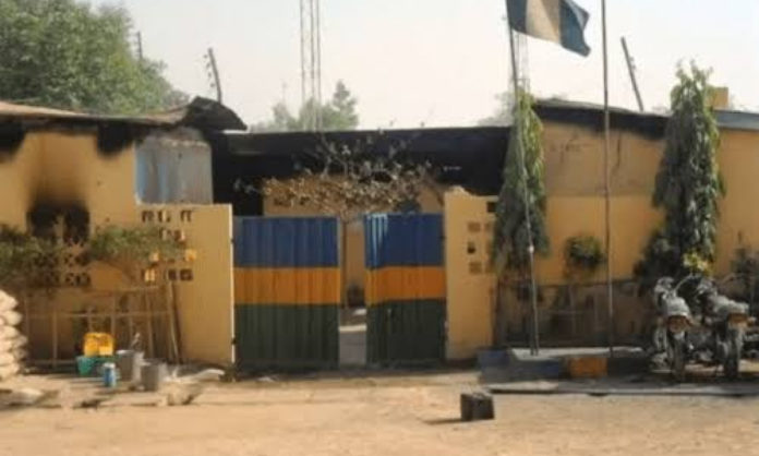 Again, Unknown Gunmen Set Police Division On Fire In Imo