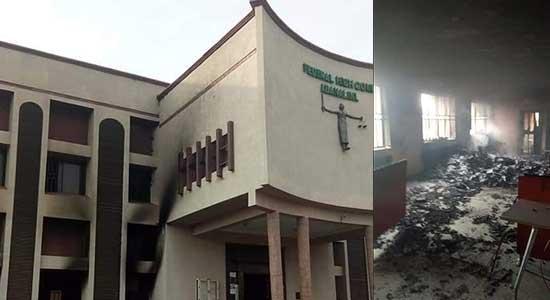 Hoodlums Set Federal High Court Abakaliki On Fire