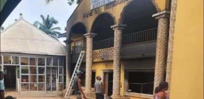 Hoodlums Set Palace Of Anambra Monarch Ablaze