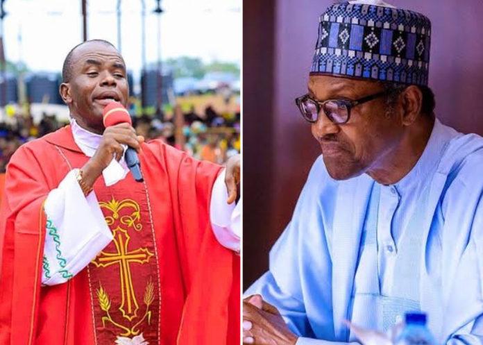 Mbaka Blesses Kanu, Says God No Longer With Buhari