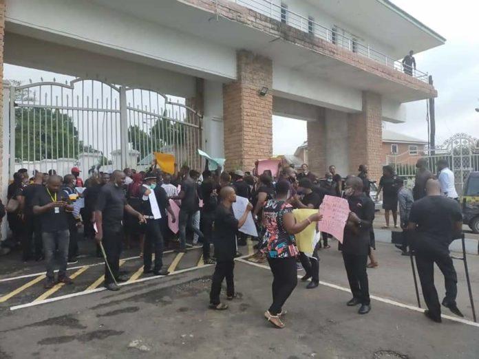 ISOPADEC Workers Protest 80 Percent Slash In Salaries