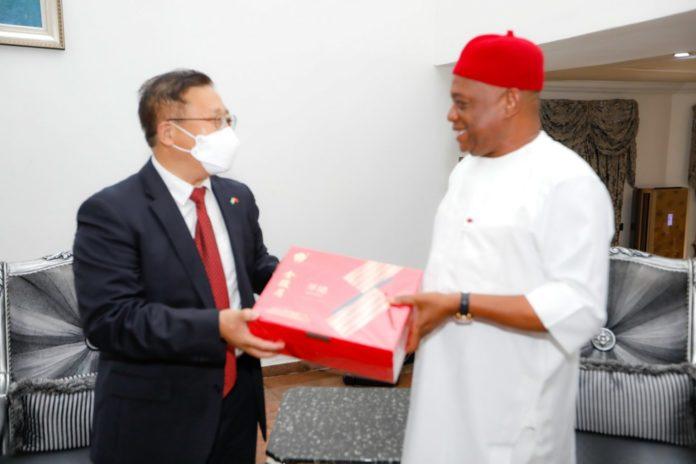 New Chinese Ambassador To Nigeria Visits Sen Orji Kalu
