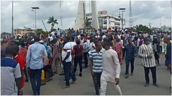 Insecurity - Protest rocks Imo over unknown gunmen attacks