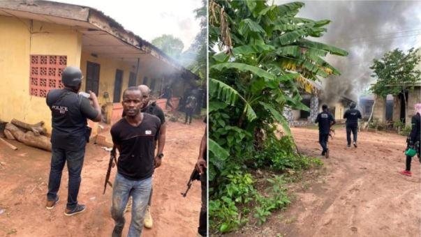 Police Dislodge ESN Camp In Imo, Set Buildings Ablaze