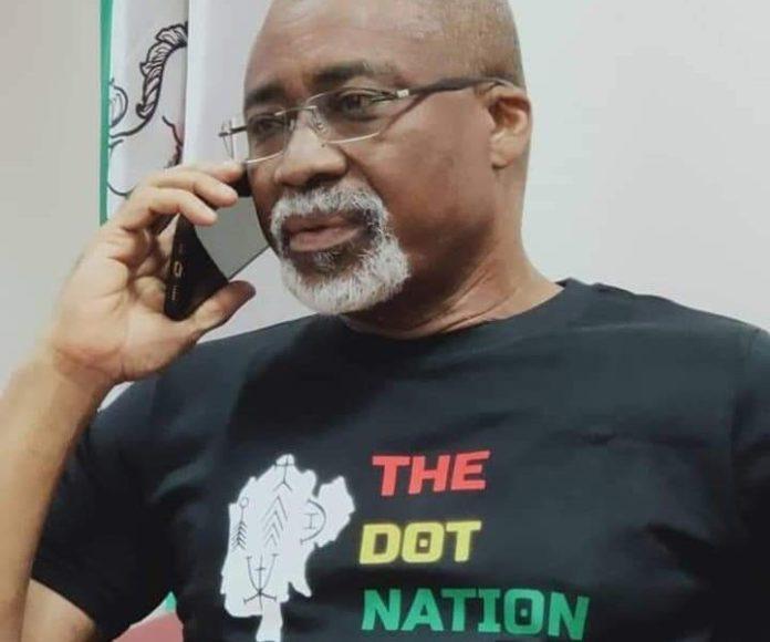 Reactions As Abaribe Rocks 'The Dot Nation' T-Shirt