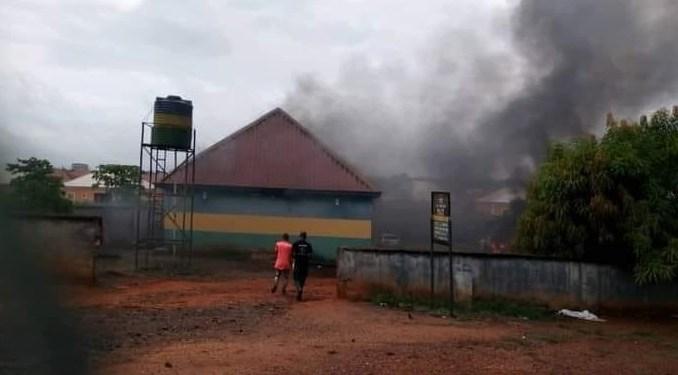 Unknown Gunmen Set Isu Divisional Police Station Ablaze