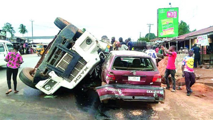 3 killed, Vehicles, Property Destroyed In Enugu Tanker Crash