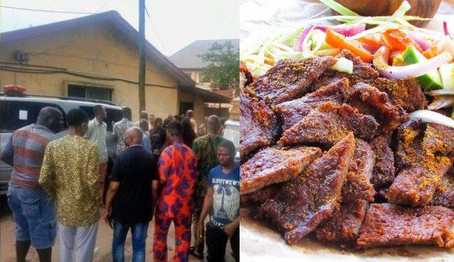 Tension in Abia as family of 7 die after eating suya
