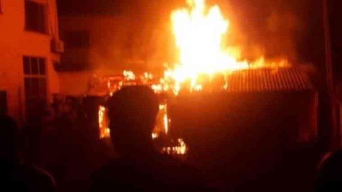 Fire Razes Two Buildings On Same Street In Owerri